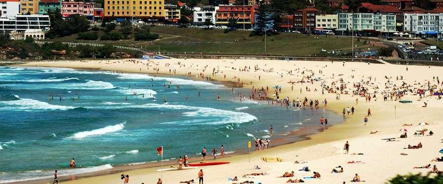 Bondi Beach. Eén van de vele stranden in de bekendste stad van Australië.