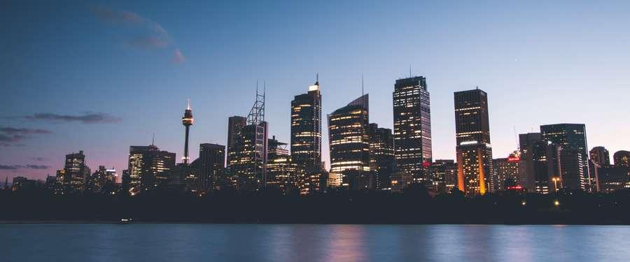 De skyline van het mooie Sydney. Uitgeroepen tot één van de leukste en meest leefbare steden van de wereld!