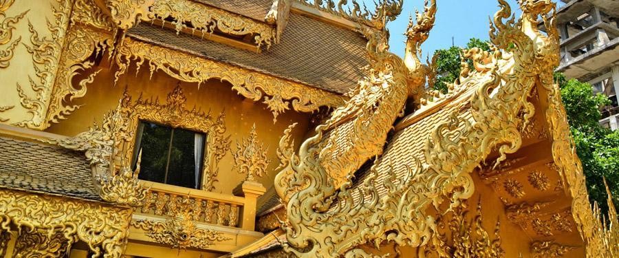 De witte tempel van Chiang Rai heeft een erg uniek toilet... Eentje uit goud!