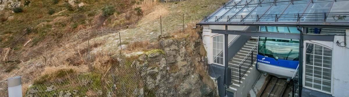 Fløibanen Bergen, Noorwegen.