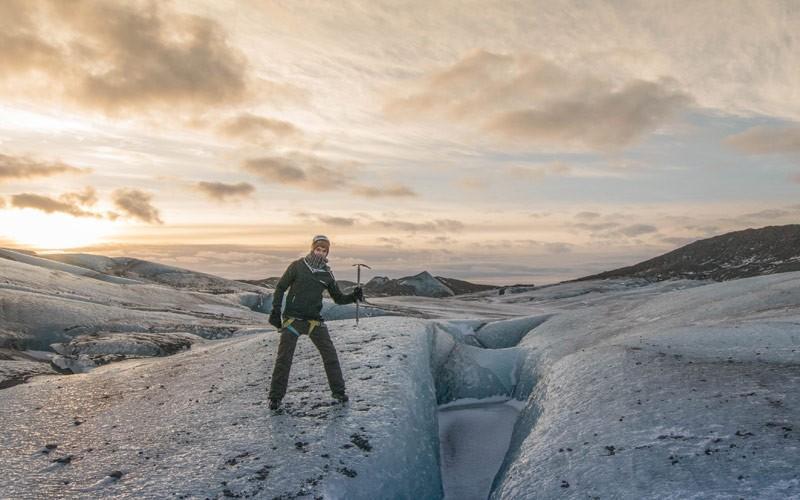 Gletsjer beklimmen in Ijsland