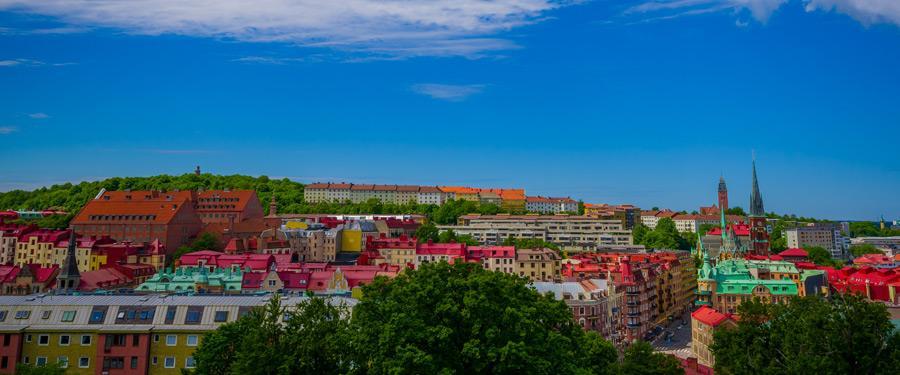 Goteborg, één van de grotere steden in Zweden.