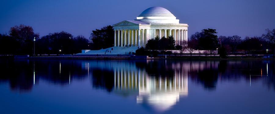 Nog zo'n gedenkplaats voor een overleden president: het Jefferson Memorial.