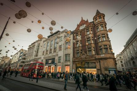 kerst in Oxford Street Londen