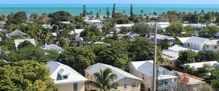 Vanuit de vuurtoren van Key West krijg je een prachtig uitzicht!