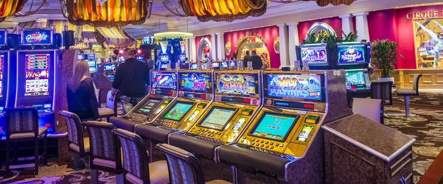 Binnenin een casino in Las Vegas.