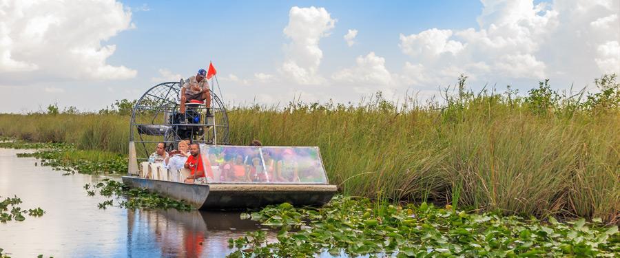 De leukste daguitstap vanuit Miami? Het Everglades National Park natuurlijk! Ontmoet krokodillen en andere moerasbewoners.
