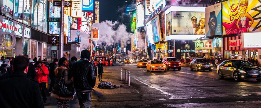Het leven in New York city staat nooit stil.