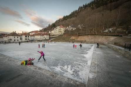 bergen schaatpiste noorwegen