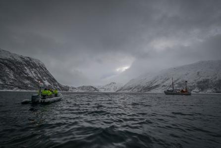 rubberen boot walvissen spotten noorwegen