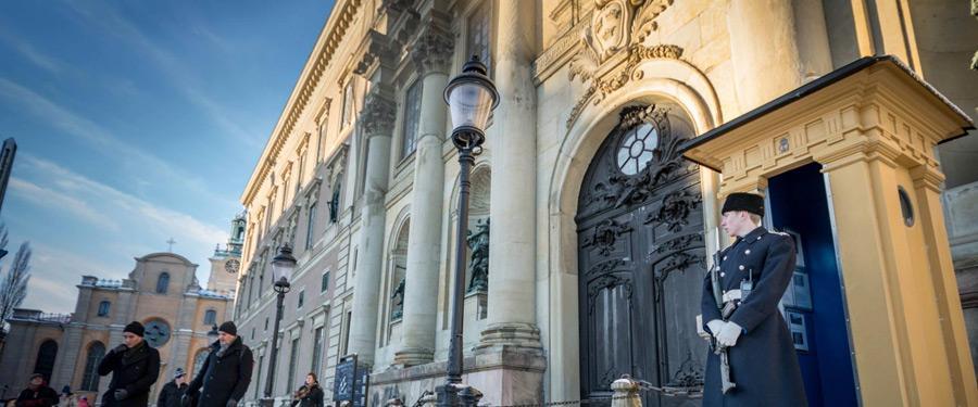 Het koninklijk paleis in Stockholm.