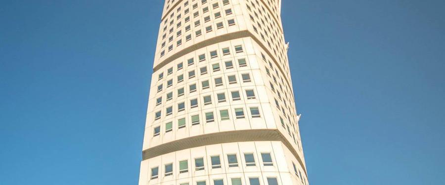 Turning Torso in Malmö. Volgens sommigen één van de mooiste gebouwen van Europa.