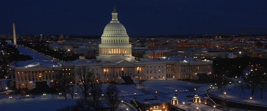 Het capitool van Washington DC. Breng zeker een bezoek! Prachtig vanbinnen en buitengewoon interessant.