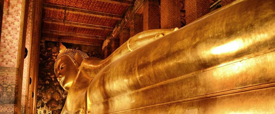 Wat Pho, de liggende buddha.