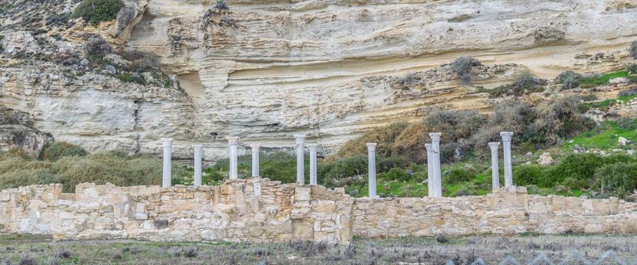 Ancient Kourion, een kleinere archeologische vondst vlakbij Paphos.