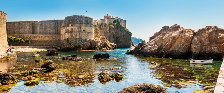 De buitenkant van de oude stad van Dubrovnik.
