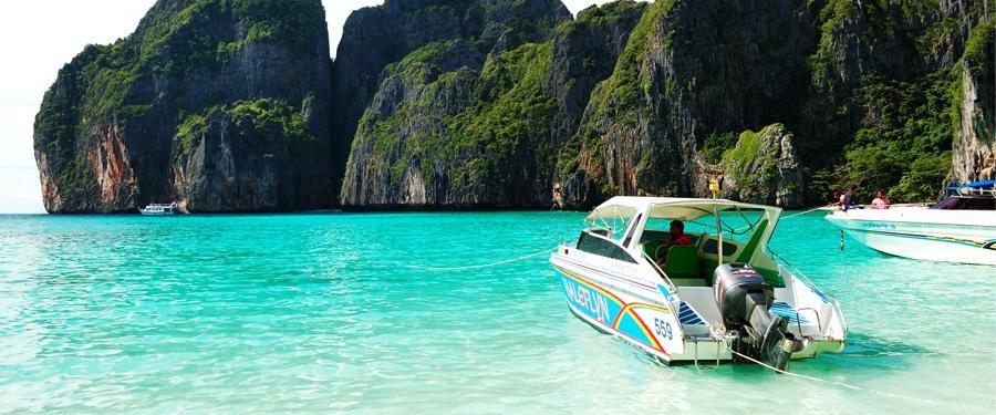 Helderblauwe zeeën en goddelijke stranden? Die vind je overal terug op koh phi phi!