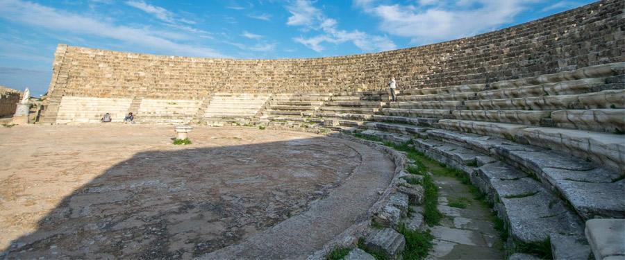 Salamis is de grootste archeologische site van Cyprus.