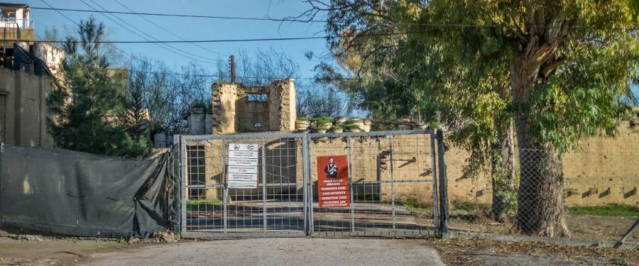 Een van de (spijtig genoeg) vele verboden zones van Nicosia.