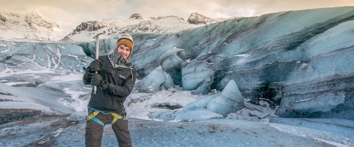 ijsland gletsjer pikhouweel