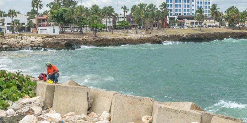 De zee van Santo Domingo