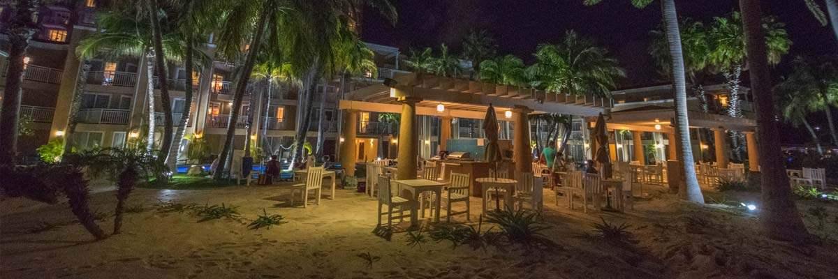 Een van de vele luxeressorts in Aruba.