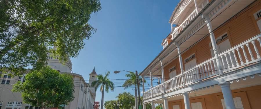 Eén van de vele koloniale woningen in Puerto Plata.