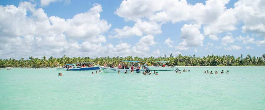 Saona eiland (Saona island), een populaire dagtrip vanuit Punta Cana.
