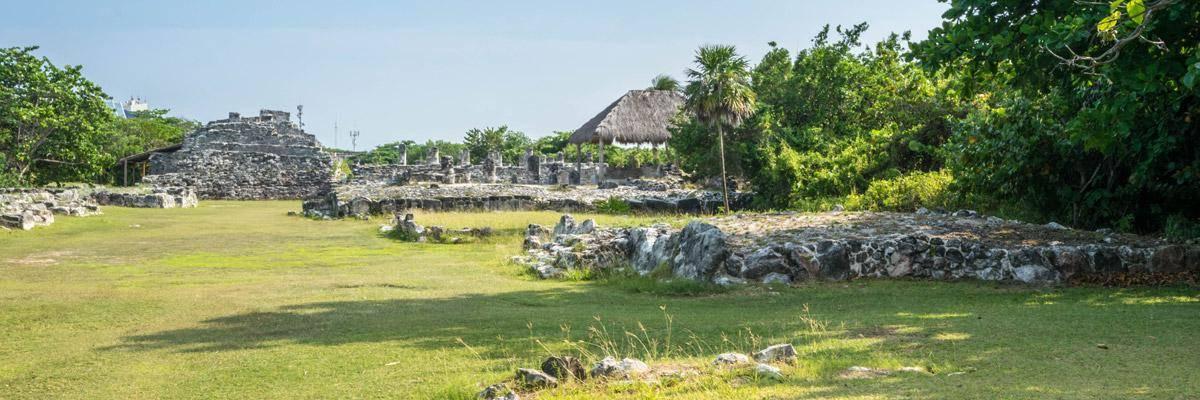 Een archeologisch park in Cancun, mijn eerste kennismaking met de maya's!