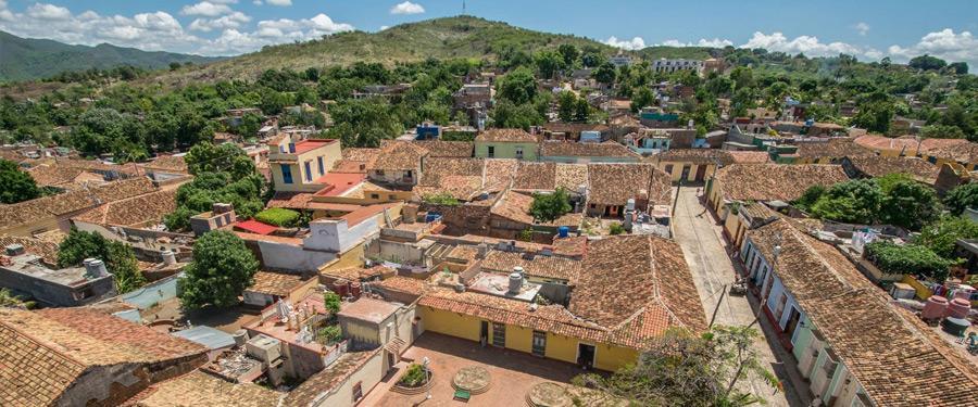 Trinidad, met zijn authentieke weggetjes en huizen.
