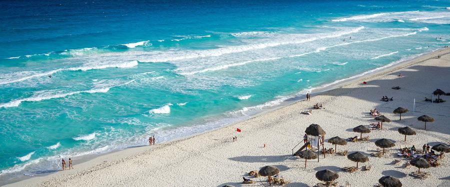 Cancun heeft hemelse stranden! De turquoise, warme zee doet je humeur goed!