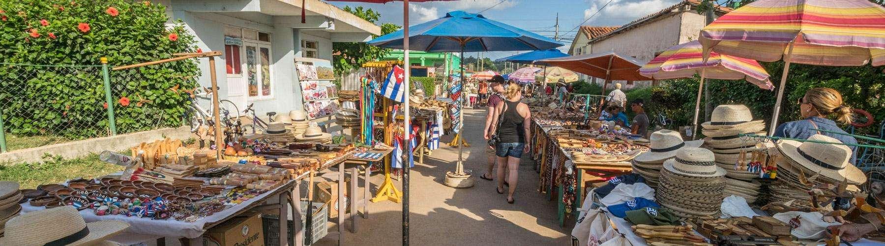 Een leuk marktje in Vinales.