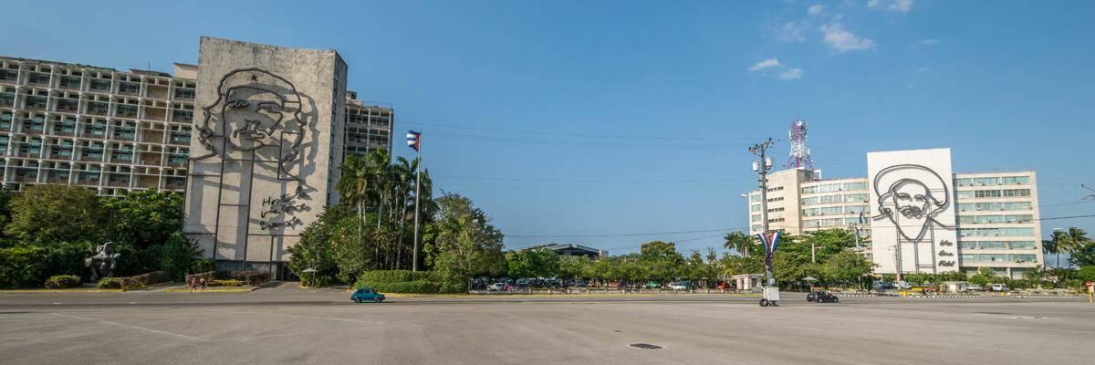Plaza de la revolucion. Een troosteloos plein dat het communisme in Cuba duidelijk weergeeft.