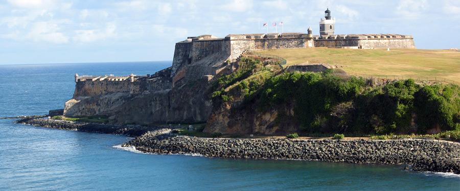 Het San Felipe del Morro fort in San Juan.