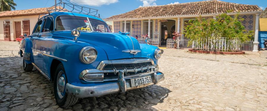 Prachtige oldtimers vind je overal in Cuba terug. Zo ook in Trinidad!