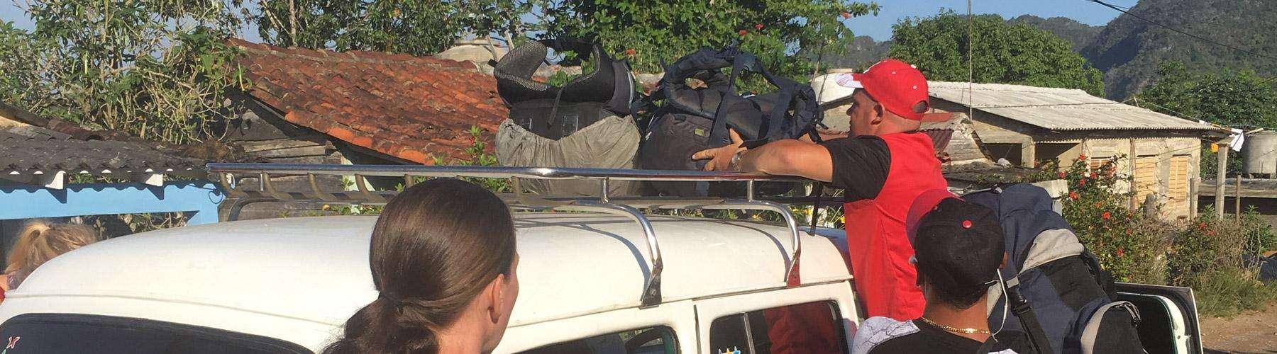 Vinales naar Cienfuegos met de taxi collectivo.