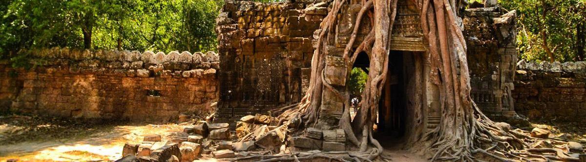 De Ta Prohm tempel in Angkor.