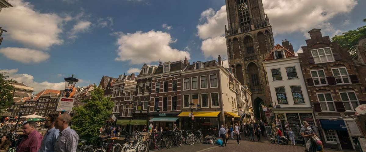 De mooie domkerk van Utrecht. De hoogste in Nederland!