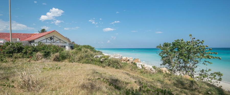Een prachtig uitzicht over het strand in Varadero.