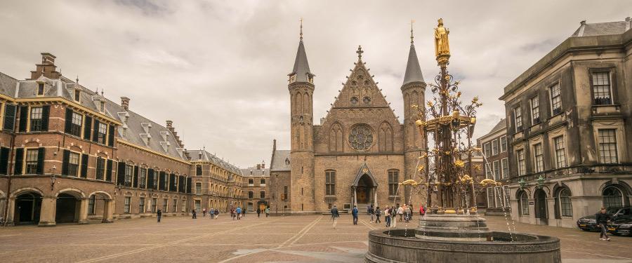 Het binnenhof in Den Haag.