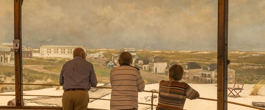 Het panorama van Mesdag. Een groots kunstwerk van de Haagse schilder Mesdag.