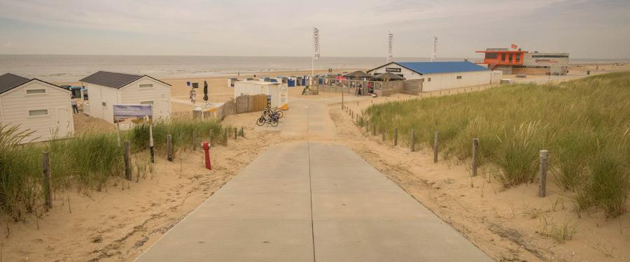 De stranden van Katwijk zijn toegankelijk voor iedereen.