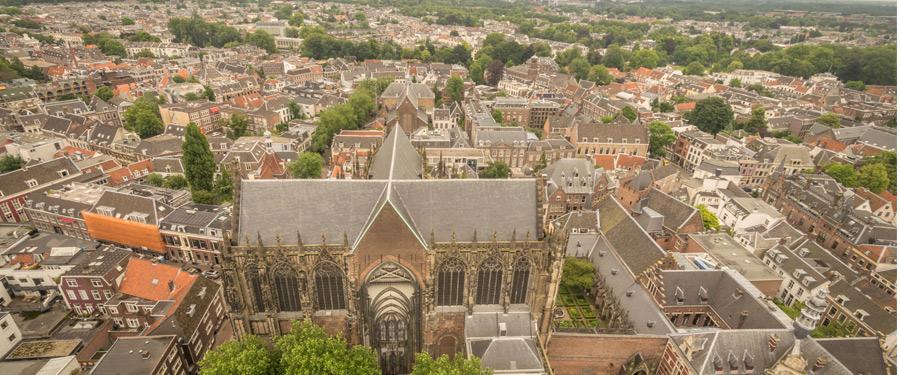 Prachtig uitzicht vanop de domtoren van Utrecht.