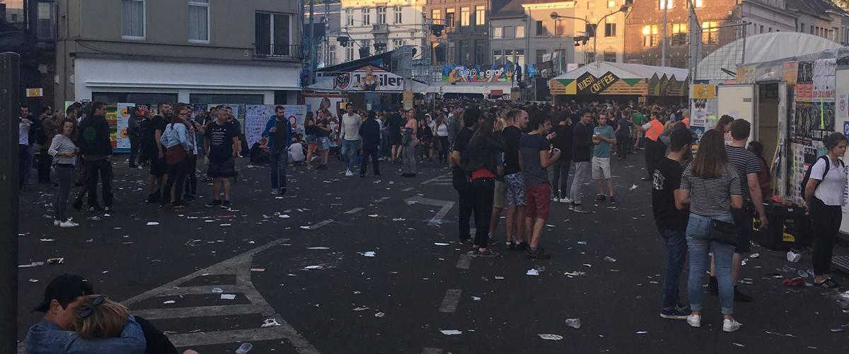 De Vlasmarkt na afloop van de Gentse feesten...