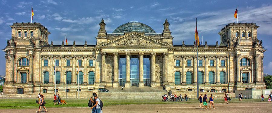 De Reichstag (Rijksdag) in Berlijn.