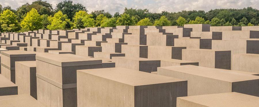Het Holocaust Mahnmal. Een prachtig plein die de holocaust herdenkt.