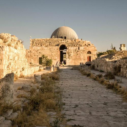 De centraal gelegen citadel van Amman.