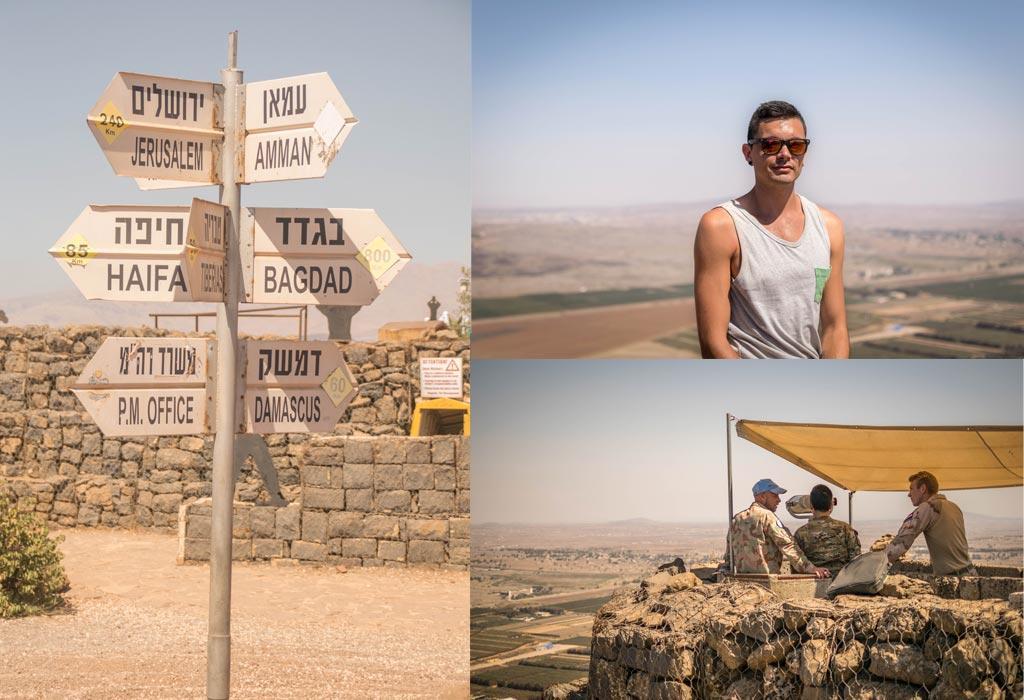 Het Golan gebertge in Israel ligt op de grens van Syrië...