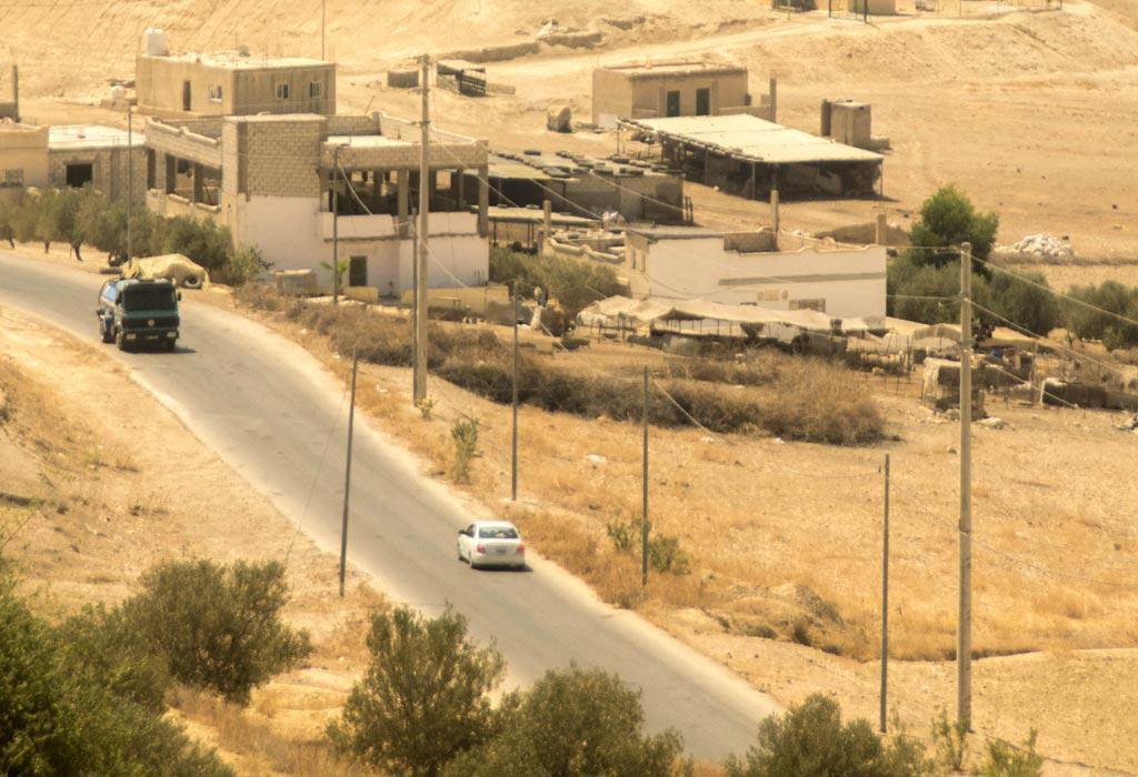 Er is een duidelijk verschil in het landschap tussen Israel en Jordanië!