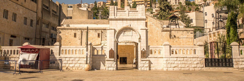 Een van de vele kerkjes in Nazareth, Israel.